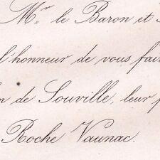 François Xavier Léon De Souville 1862 La Roche Vaunac