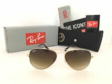 Brand New Ray Ban Aviator Gold Frame RB3025 001/51 58mm Brown Gradient Lens