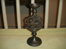 Superb Archangel Michael Candlestick Holder-Gothic Metal Design-Religious Candle