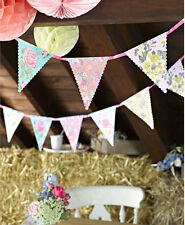 Pretty Floral Vintage Style Birthday Flags banner party bunting Garland Decorati
