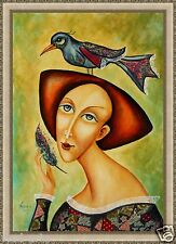 """Painting Original mixed media on canvas 26""""x18""""  Russian Modern Art by Pronkin"""
