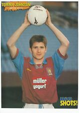 TOMMY JOHNSON ASTON VILLA 1994-1997 ORIGINAL HAND SIGNED MAGAZINE PICTURE