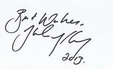 Helen McCroy hand signed 5x3 Index card Harry Potter
