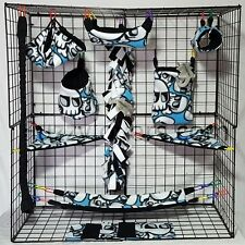 Skull Cross Bones *15 PC Sugar Glider Cage set *Rat * double layer Fleece