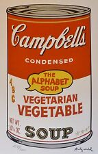 ANDY WARHOL CAMPBELL'S SOUP II ALPHABET VEGETABLE SIGNED HAND NUMBERED LITHO