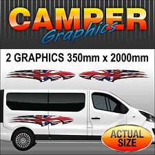 Campervan Motorhome Van Graphics Exterior Decals Sickers Set  MHAC002