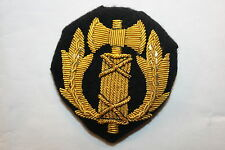 WW2 WWII FRENCH VICHY POLICE OFFICER'S UNIFORM CAP PATCH BADGE BULLION WIRE GOLD