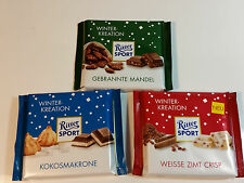Ritter Sport - 3x WINTER KREATION - 3x 3.5oz  3x 100g  MADE IN GERMANY