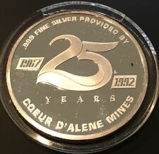 25th Anniversary Channel 7 Public Television KSPS 1 Troy Ounce .999 Fine Silver