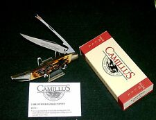 Camillus 31 Sword Brand Bench made Knife Indian Stag Handles W/Packaging,Papers