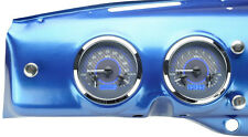 Dakota Digital 47 - 53 Chevy GMC Truck Analog Dash Gauges Carbon Blue VHX-47C-PU