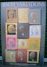 """""""BACH VARIATIONS""""~ MILTON  GLASER~ ORIG. POSTER 1984~THE GALLERY/ LINCOLN CENTER"""