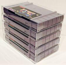 25 SNES Cartridge Protectors  Custom Clear Cases Super Nintendo Video Game Carts