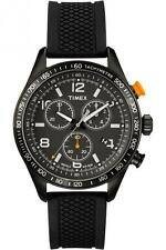 Timex T2P043 Men's Black Dial Black IP Steel Black Strap Watch