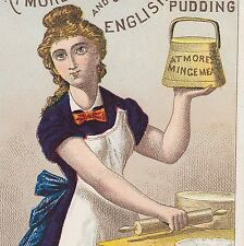 Atmores Mince Meat Plum Pudding Pie Baking Cook Victorian Advertising Trade Card