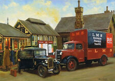 Austin 7 Seven K3 Lorry Truck LMS Railway Train Nostalgic Car Birthday Card