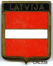 CAL338 - PLAQUE DE CALANDRE AUTO - LATVIJA