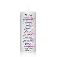 Personalised Mum Butterfly Thank You Candle Birthday, Christmas Gift Keepsake