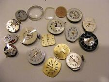 LOT 16 WATCH Faces & Movements SPARE PARTS Steampunk Art & Crafts for PARTS ONLY