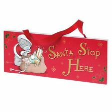20cm me to you tatty teddy noël santa stop here porte plaque (C71)