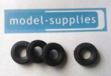 Corgi repro 17mm black  treaded rubber tyres for Land Rover, Jeep etc (set of 4)