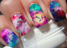 Galaxy Nail Art Stickers Transfers Decals Set of 22