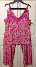 NWT JOSIE by NATORI TURKISH GATES PAJAMA 2-PIECE SET TANK/PANTS RED  LARGE $88