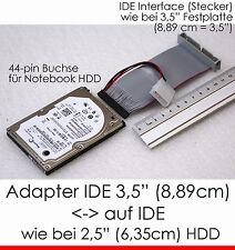 """Cavo Cable Adattatore 2,5"""" IDE Disco Rigido Notebook Female - & GT 3,5"""" controller volte"""