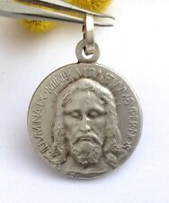"925 STERLING SILVER "" HOLY FACE "" MEDAL -- MASTERPIECE OF ITALIAN ART"
