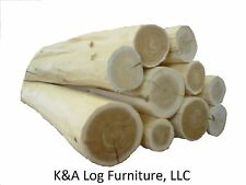 LG 6' Log Furniture Logs, Hand Peeled Cedar, kiln dried, Use your tenon cutter!