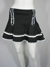 Tripp NYC White Lace Goth Black Short Skirt Punk sz L