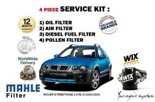 PARA ROVER STREETWISE 2.0TD 07/03-05 FILTRO ANTIPOLEN ACEITE AIRE COMBUSTIBLE