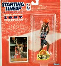 1997 Clyde Drexler Houston Rockets Starting Lineup NBA Action Figure NIB Kenner