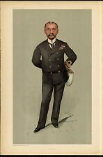 BRITISH NAVAL OFFICER IN UNIFORM GUNNER CARICATURE SEAMAN GUN CARRIAGE INVENTOR