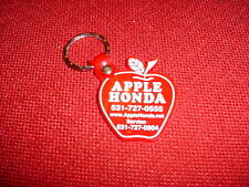 NEW HONDA CAR AUTOMOBILE KEYCHAIN WITH RED  APPLE AND KEY RING PLASTIC
