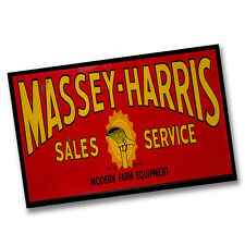 Two Massey-Harris Sales Service Modern Farm Equipment 11x17 Posters