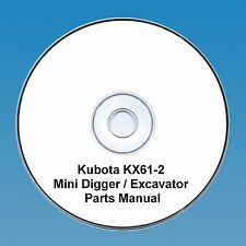 Kubota KX 61-2 Excavator / Digger  - Parts Manual.