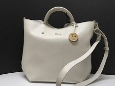 NWT FURLA LARGE ALISSA HOBO SHOPPER TOTE BAG SAFFIANO WHITE TOTE