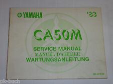 Werkstatthandbuch - Grundhandbuch / Service Manual Yamaha CA 50 M Stand 10/1982