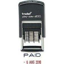 TRODAT PRINTY 4850 DATE & TEXT 'PAID' RUBBER STAMP