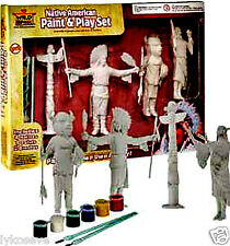 NATIVE AMERICAN PAINT AND FIGURES PLAYSET NEW free shipping with buy  it now