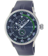 Nautica N14665G Multi Function Silicone Band Dark Blue and Green Men's Watch