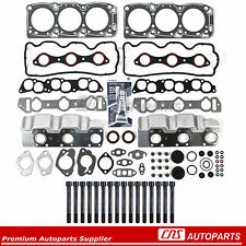 Head Gasket Set Bolts Fits 87-00 Dodge Hyundai Mitsubishi 3.0 SOHC VIN 3, 6G72