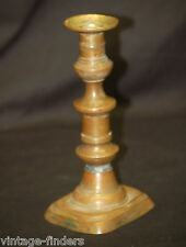 Antique Vintage Brass Candlestick Candle Holder Stick Home Mantel Decor