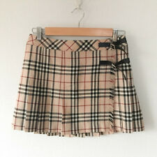 Authentic BURBERRY LONDON Blue Label Skirt Check size 38 M Wool Made in Japan VG