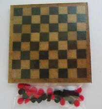 """Dollhouse miniatures1:12scale handmade checkerboard with checkers.1 3/4"""" square"""