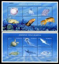 NICARAGUA 2000 Meerestiere Fische Wale Seeschildkröte  4160-75 + Block 305-306 *