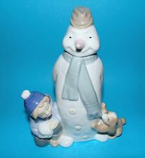 Nao by Lladro Figurine 'Winter game' snowman   ornament  1st quality #1438