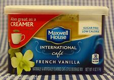 3 Maxwell House International Cafe FRENCH VANILLA SUGAR FREE Coffee Creamer