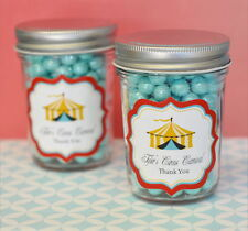 96 Personalized Circus Carnival Theme Mini Mason Jars Birthday Party Favors